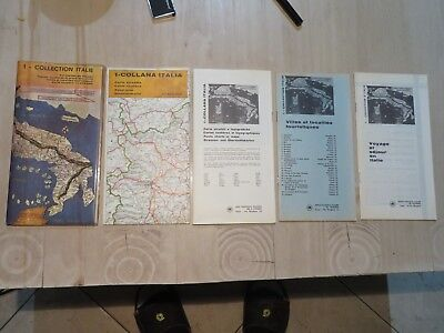 Turismo Carta Turistica stradale Collectors Country map Italien Italia Italy
