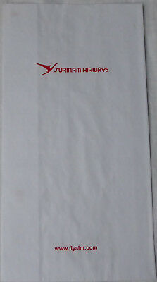 SURINAM AIRWAYS Air Sickness Bag Spuckbeutel Kotztüte Airlines Suriname