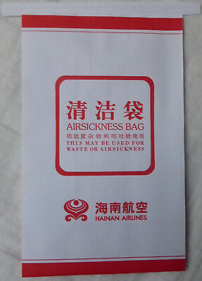 HAINAN AIRLINES Air Sickness Bag Spuckbeutel Kotztüte