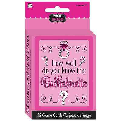 Team Bride How Well Do You Know The Bachelorette Party Card Game Hens Night