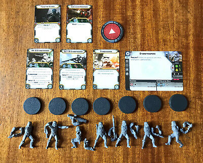 Star Wars Legion Imperial Stormtrooper Unit, Tokens and Cards FFG