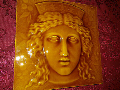 "Mintons, Ltd - c1892 - ""HERA"" Greek Gods Series - EXTREMELY RARE - Antique Tile2"