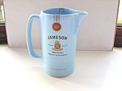 jameson irish whiskey water jug light blue no markings on the base in VGC