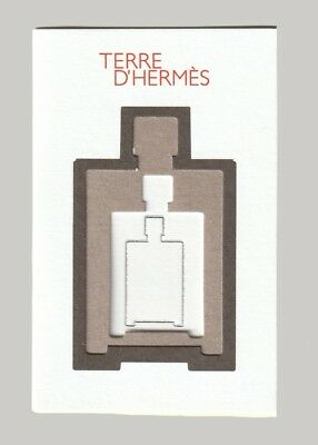 Carte publicitaire - advertising card - Terre d'Hermès 3 volets