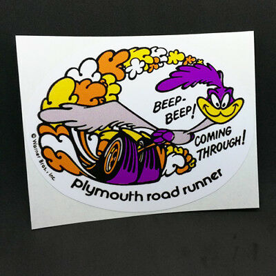 """1 #746 3.5/"""" Plymouth Road Runner REPRO Retro Vintage Vinyl Decal LAMINATED"""