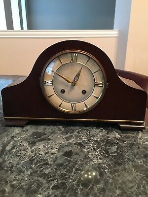 Vintage Junghans 8-Day Napoleon Hat Mantel Clock Germany Circa 1930