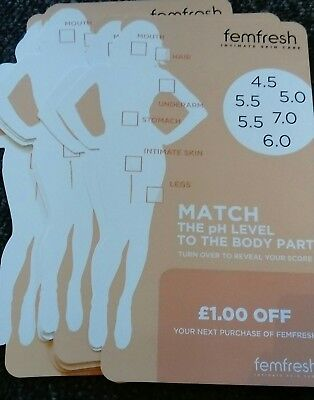 £10 Money-Off Coupons Voucher FEMFRESH, ANY PRODUCT.