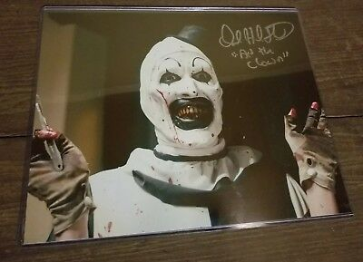 DAVID HOWARD THORNTON signed 8x10 Photo Art the Clown W/COA