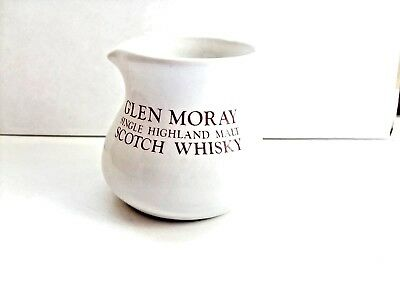 miniature glen moray scotch whisky water jug white buchanware scotland  VGC.