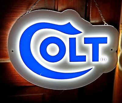 Colt Firearms Advertising Hanging Wall Light Promotional Store Sign