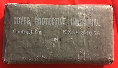 WWII / WW2 Blister Gas Cover, Protective, Individual, Dated 1944, Unused
