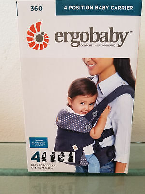 NEW! ERGOBABY 360 COTTON 4 Position Ergo baby carrier Sling Wrap DUSTY BLUE