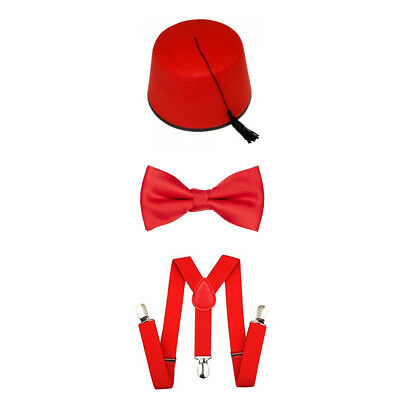Comic Relief/'s Red Nose Day Sequin Trilby Hat Bow Tie Sponge Nose 3 Pc Party Set