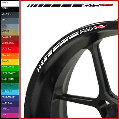 12 x Triumph Speed Triple 1050 Wheel Rim Decals Stickers - 20 colours - r rs s