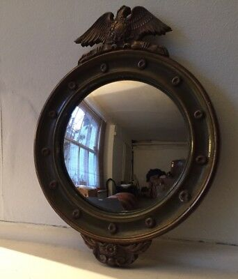 Vintage French Empire-style Fish Eye Convex Mirror