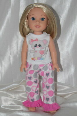 Dress Outfit fits 14inch American Girl Wellie Wishers Doll Clothes Lot Hearts 2