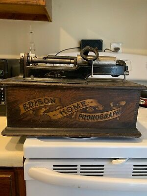 Antique Edison Home Phonograph for part or restoration ..