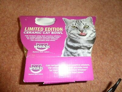 Whiskas Limited Edition Ceramic Cat Bowl New in Box