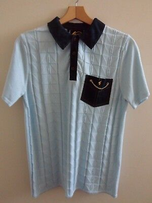 b831b64eb Gabicci Vintage Knitted Polo in Sky Size Small Limited Edition Was £85 Now  49.99