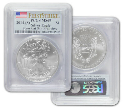 2014 (S) Silver American Eagle - MS-69 PCGS - First Strike