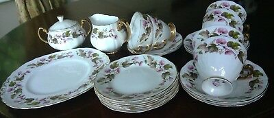 Vintage ROYAL IMPERIAL CHINA set of 6 cups, saucers, tea plates etc