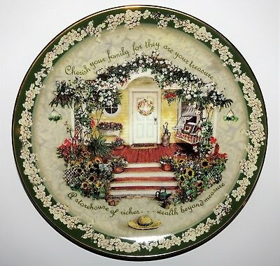 "Cherish Your Family Plate~ They Are Your Treasure~Glenna Kurz 8""~Welcome Home"