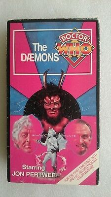 Doctor Who - The Daemons (VHS, 1993,Reconstructed Colour Version)  NTSC Edition