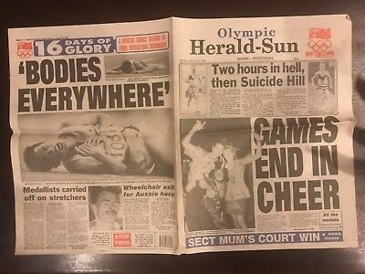 Herald Sun Newspaper Page - Olympic Games Monday August 10, 1992