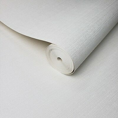 Wallpaper white Textured Plain faux grasscloth horizontal lines wall coverings