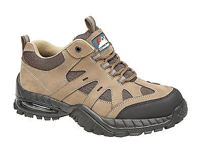 Himalayan 4042 SBP SRA Sand Leather Air Bubble Steel Toe Safety Shoes Trainers