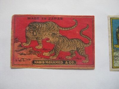 Old Japanese Tiger Matchbox Label.design 11.