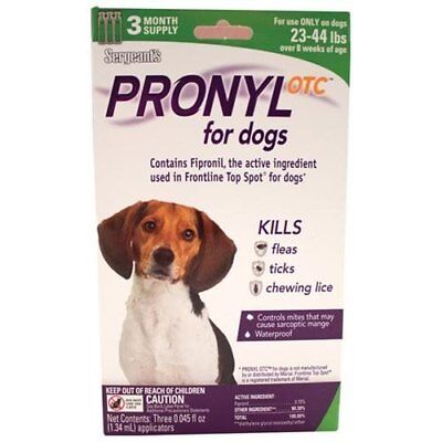 Pronyl OTC 23 to 44 Pound Flea and Tick Remedy 3-Count 3 Month Supply