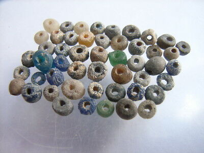 50 Ancient Roman Clay, Glass Beads Romans VERY RARE!  TOP !!