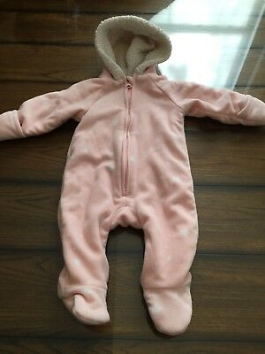 5df9361ce380 ABSORBA BABY girl 3-6 Months Light Pink Winter Bunting Coat Suit ...