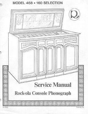 ROCK-OLA MODEL 404 SERVICE MANUAL AND PARTS LIST 87 PAGES .PDF FILE