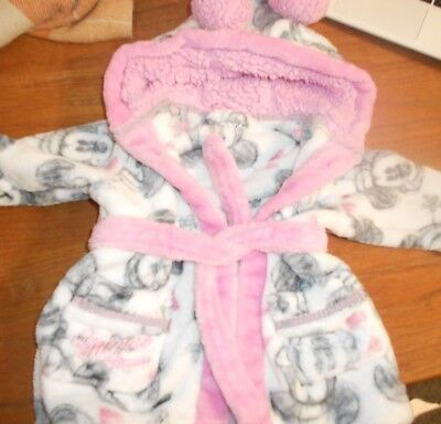 Disney Minnie Mouse Dressing Gown Size 3-6 months