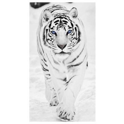 White Tiger 5D Diamond Embroidery Painting Cross Stitch Craft Home Decoration
