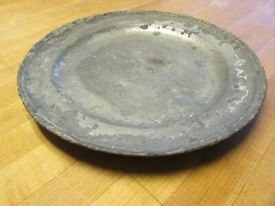 17th Century Pewter Plate with Hallmarks, Dated 1696, Shipwreck Recovery
