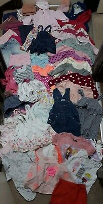 Huge Bundle Of Baby Girl Clothes 9-12months #606 JOHN LEWIS M&S GEORGE NEXT F&F