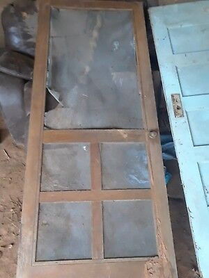 Vintage/Antique Southern Pine Wooden Farmhouse/Barn SCREEN DOOR Architectural