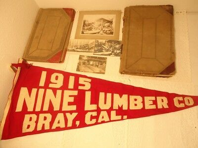2 Vintage 1898-1916 WV Sawmill Logging Payroll Sales Ledgers Pictures Receipts