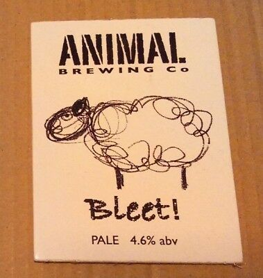 ANIMAL - XT brewery BLEET cask ale beer pump clip badge front sheep