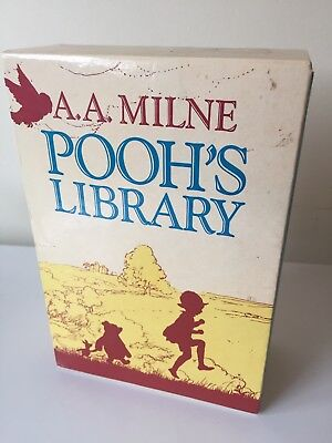 A.A. Milne Pooh's Library Book Set Series. Reprinted In 1989. Winnie The Pooh
