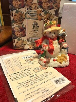 2000 Cherished Teddies Figurine Merry#706906 In The Meadow We Can Build ASnowman