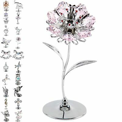 Crystocraft Chrome Plated Ornament  Swarovski Crystal Elements Keepsake Gift