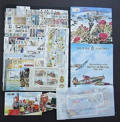 ISLE OF MAN - SUPERB COLLN OF MNH SETS FOR PERIOD 1990s - FACE VAL £130+