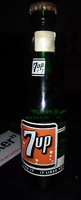 Rare 1951 7up 7oz Glass Bottle Unopened! Knoxville, TN.