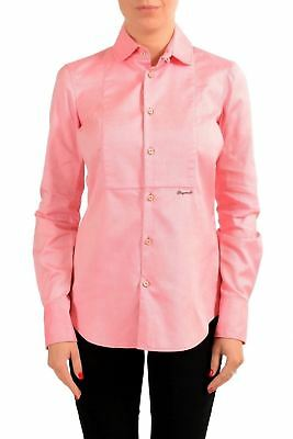 335e572bc DSQUARED2 WOMEN'S WHITE Button Down 3/4 Sleeve Shirt US S IT 40 ...