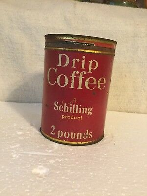 Vintage schilling coffee can
