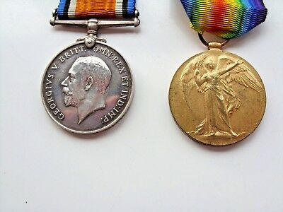 Military Ww1 Service&victory Medals 26980 Pte. E. Holt R-Lanc-R Eg. With Ribbon